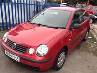 VW POLO 1896cc SDI TWIST DIESEL 3 DOOR HATCH 2004-54, RED,