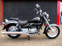 HYOSUNG AQUILA GV 125 CUSTOM CRUISER NEW 2 YEARS WARRANTY FINANCE