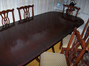 Mahogany Dining Table And Or 6 Chairs