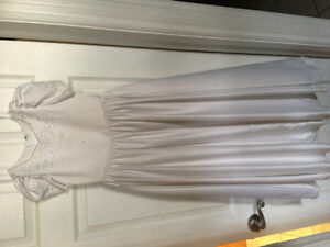 First communion white dress 43'' long