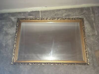 Classic gold patterned large wall mirror