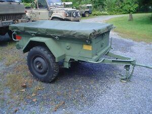 Remorque jeep iltis Trailer Militaire Military 1/4 ton M101