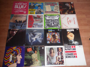 blues and jazz LPs