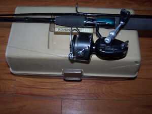 Vtg Mitchell Garcia 350 Reel Shakespeare Alpha Rod Tackle Box