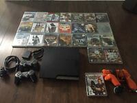 250GB PS3, 2 controllers, BT mic and 24 games. $250