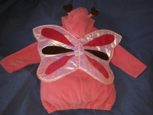 Girls Pink Butterfly Halloween Costume Size 4/5T Old Navy EUC
