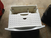 Washer/Dryer Pedestal with sliding drawers