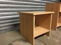 Small beech effect bed side cabinet /table / TV