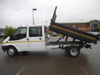 2013 FORD TRANSIT 2.2 TDCI 100 350 RWD D/CAB 9 FT STEEL TIPPER**BUY FROM £64 P/W