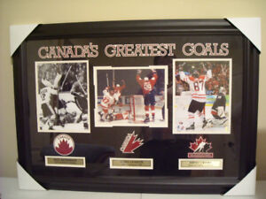 CANADA'S GREATEST GOALS  framed hockey picture