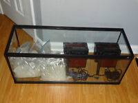 44gal Fish tank with ocean sand plus 2 x filters and 2 x heaters