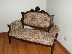 4 piece Antique Eastlake Settee set