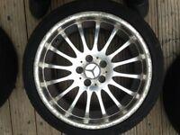 Mercedes alloy wheel.