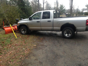 2007 Dodge Power Ram 1500 Lt Pickup Truck with snow plow