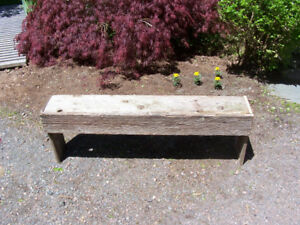 Barnboard Bench 49 by 10 and 17 Tall For sale