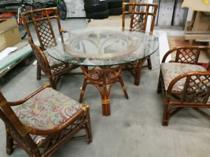 Wicker kitchen table set for sale