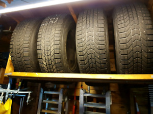 Winter tires on steel rims 245-70-17