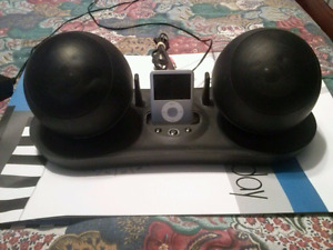 Centrios docking station with rechargeable speakers