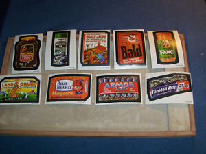 LOT OF 9 O-PEE-CHEE WACKY PACKAGES STICKERS-ARMOR-FANG +