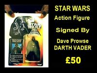 STAR WARS Autographed DARTH VADER Action Figure