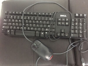Dell keyboard & Microsoft mouse - $37