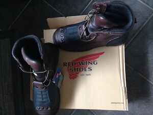 Red Wing steel toed 10inch metatarsal work boots