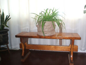 HOPE CHEST/COFFEE TABLE AND BENCHES FOR SALE