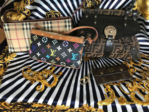 Fendi, Burberry, Louis Viutton bags PREOWNED in Excellent Condit