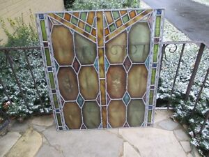 STAINED GLASS PANELS 38 BY34 MANY TO CHOOSE FROM