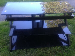 3 tier glass tv stand - Delivery Included