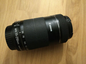 Canon 55-250 STM IS Lens - Lightly used.