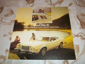 BROCHURE AUTO FORD ELITE ( 1976 )