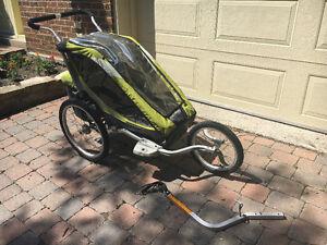 Poussette Chariot Cougar 1 kit vélo et jogging