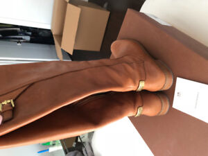 COACH - Camel coloured leather boots