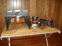 2 routers and a table mitre saw