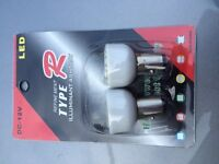 Motorcycle led bulbs for stop or passing lights