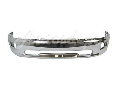 FOR 2009-2012 DODGE RAM 1500 PICKUP FRONT BUMPER FACE BAR CHROME W/ FOG HOLE