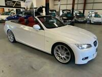 2010 BMW 320D M SPORT-CONVERTIBLE-WHITE WITH RED LEATHER-AUTO-FSH-LOVELY LOOKING