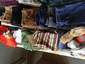Bags of baby boy clothing