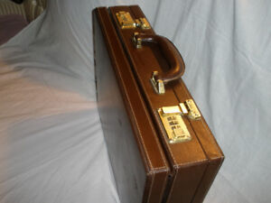 BRIEFCASE - EXTENABLE - Brown with Combination Lock - $35.00