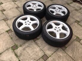 "Mercedes 19"" Amg Alloys with Tyres CL SL & S class-Genuine"