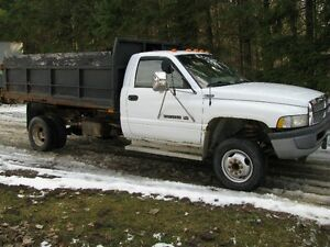 1996 Dodge Power Ram 3500 1 ton Truck with hoist only 110,000 km