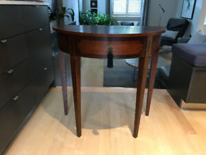 Solid wood hall table, Art Deco style