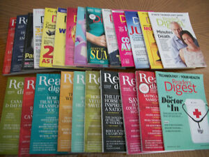 READERS DIGEST MAGAZINES  --  24 ISSUES