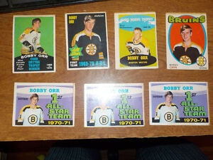 7 Bobby Orr cards Stratford Kitchener Area image 1