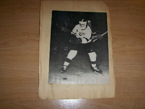 MONTREAL CANADIANS-DETROIT RED WINGS-NHL-1 SCRAPBOOK PAGE-1950'S