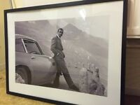 James Bond framed picture