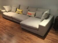 Barker & Stonehouse Grey Corner Sofa