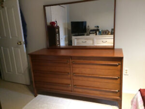 Mid-Century Gibbard Dresser with Mirror in African Red Mahogany