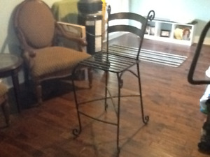 3 cast iron bar stools